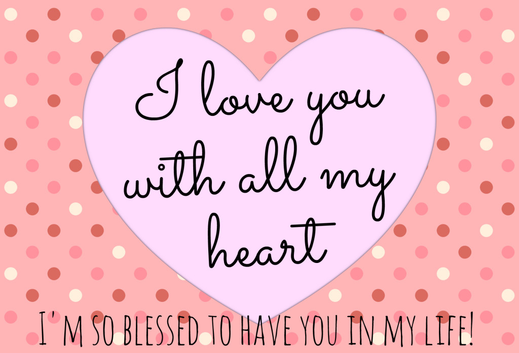 With all my heart postcard