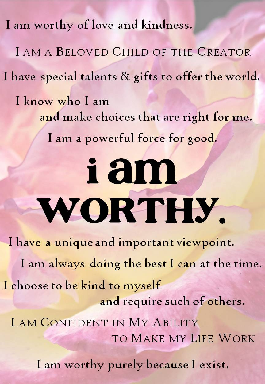 I am worthy bonus gift created by Christine Morgan worthandwisdom.com