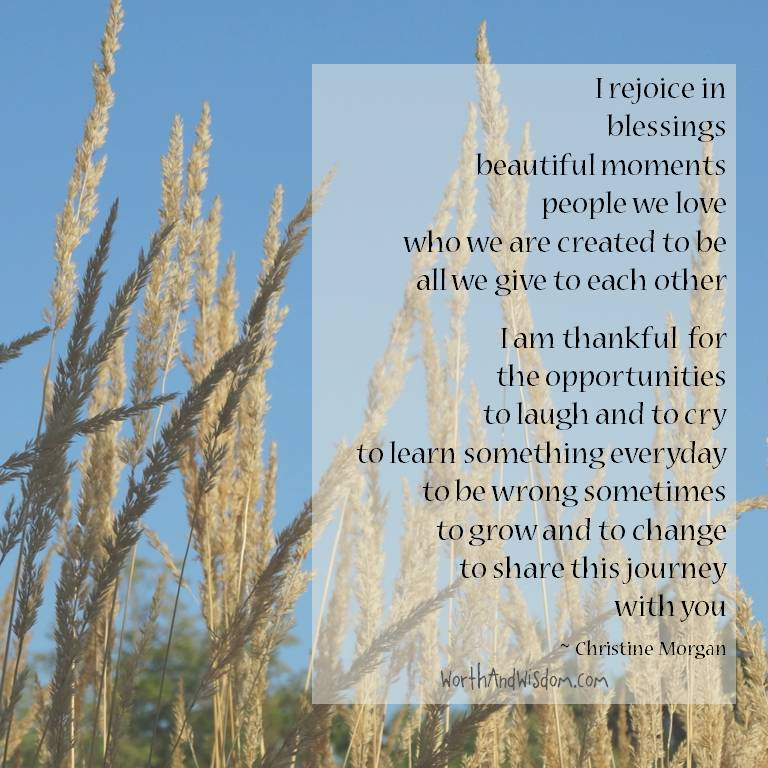rejoicing in thankfulness